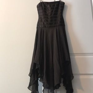 BCBG Brown Ribbon Dress Size 0